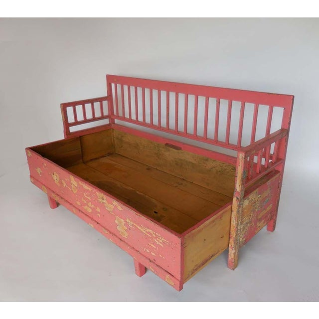 19th Century Painted Swedish Bench/Daybed - Image 5 of 9