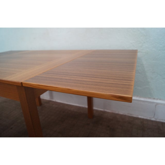 Danish Modern Teak Refractory Square Dining Table - Image 6 of 10