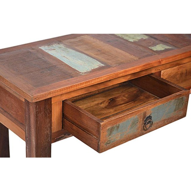 Reclaimed Wood Console with Drawers - Image 2 of 2