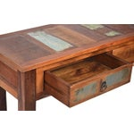 Image of Reclaimed Wood Console with Drawers