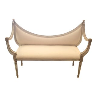 Hollywood Regency Style Settee Bench