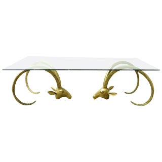 Brass Ibex Ram's Head Coffee Cocktail Table