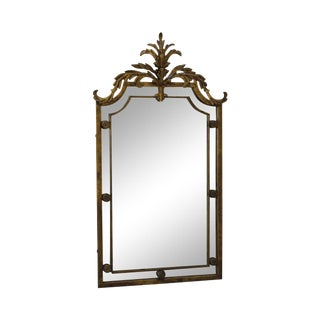 Gilt Gold Painted Metal French Louis XV Style Wall Mirror