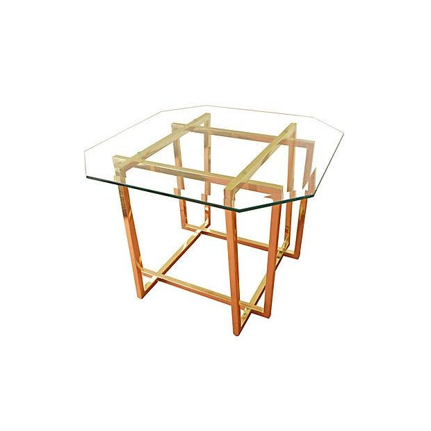 Cardin-Style Brass Side Tables- A Pair - Image 2 of 3