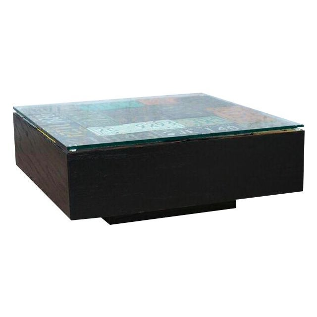 Americana License Plate Coffee Table - Image 1 of 3