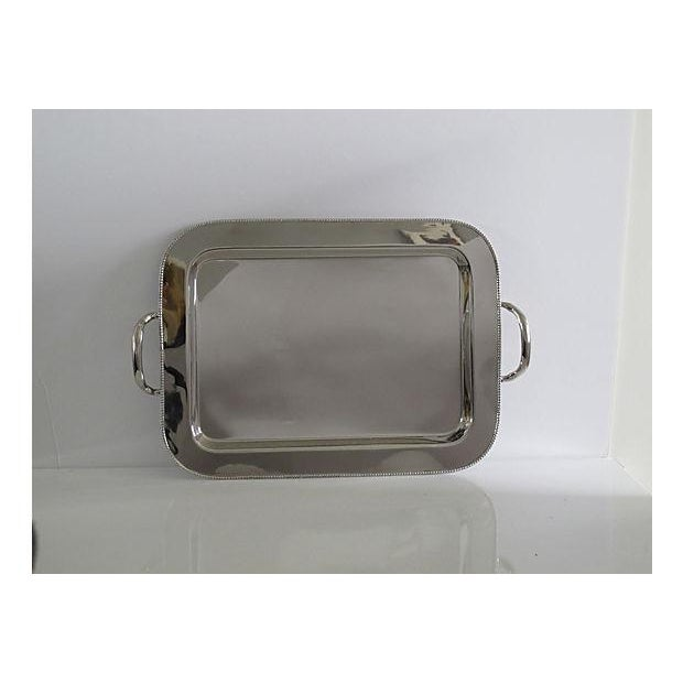 Pearled Rim Silverplate Tray - Image 2 of 5