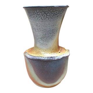 Multicolored Fluted Ceramic Vase