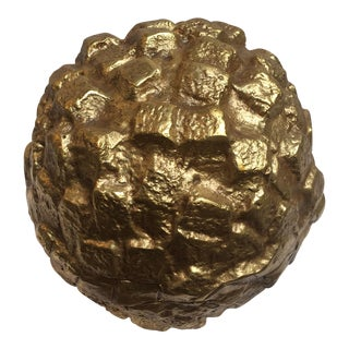 Gold Lacquered Sphere Figure
