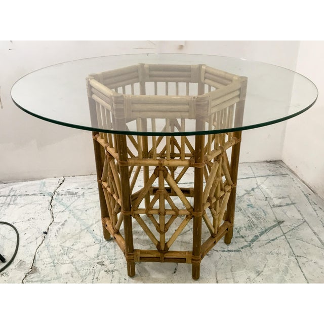 Pair of Rattan Consoles or Center Table - Image 2 of 5