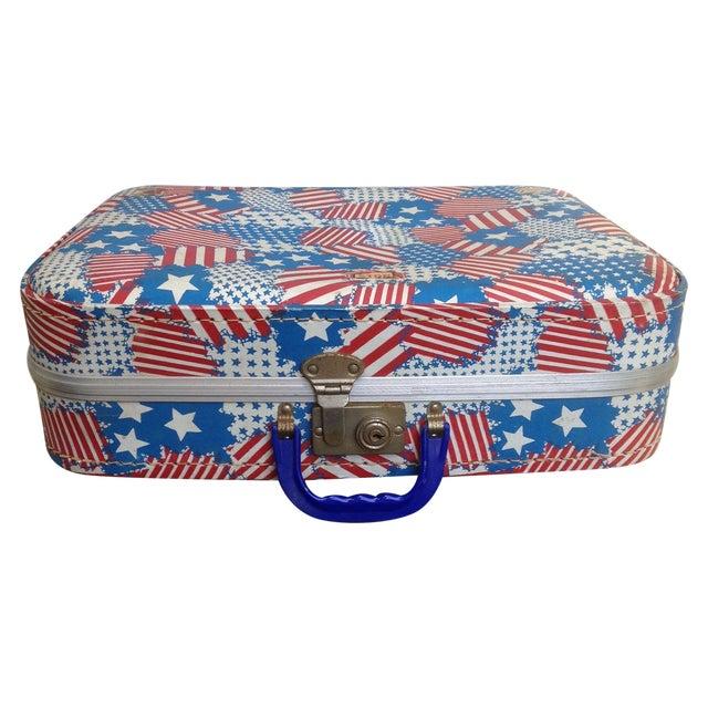 Patriotic Vintage Child's Suitcase - Image 1 of 5