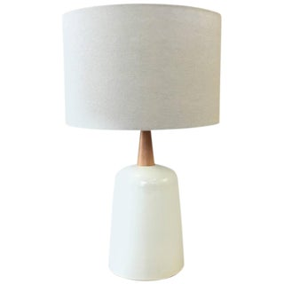 Gordon & Jane Martz for Marshall Studios Ceramic & Teak Table Lamp