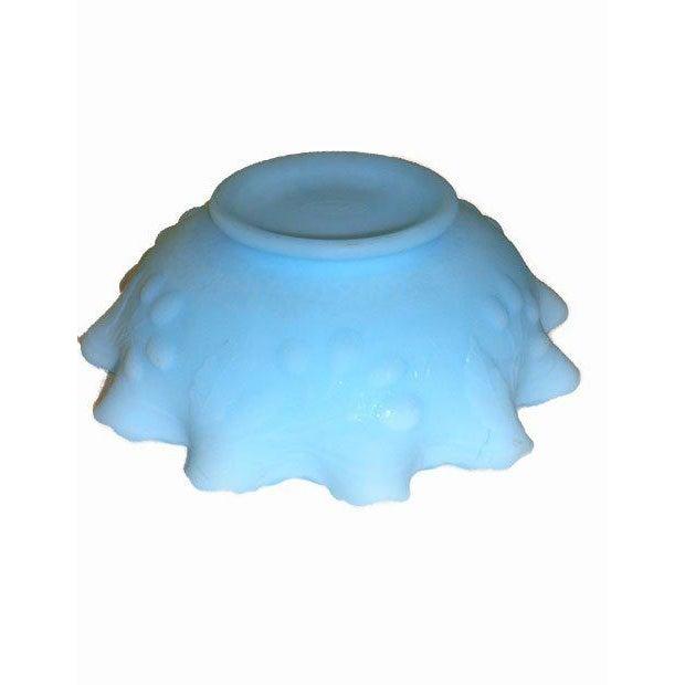Fenton Blue Satin Glass Ruffled Bowl - Image 4 of 4