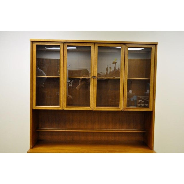 Image of Vintage Mid-Century Danish Hutch China Cabinet