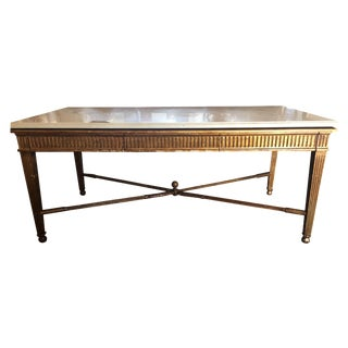 Nancy Corzine Marble Top Gold Desk