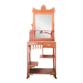 Gaudi Style Wooden Console & Mirror