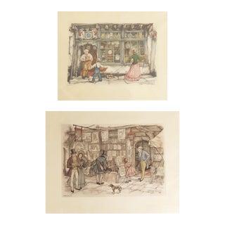 Anton Pieck Lithographs - a Pair