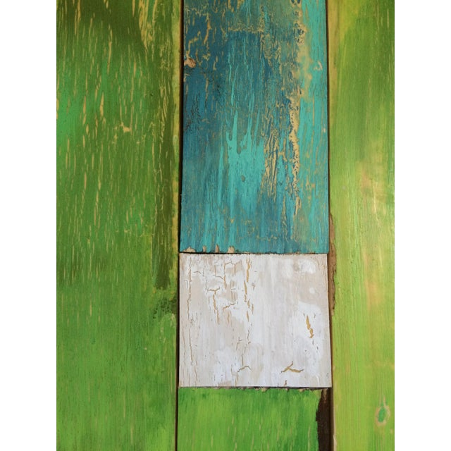 Green & Blue Sculptural Painting - Image 3 of 3