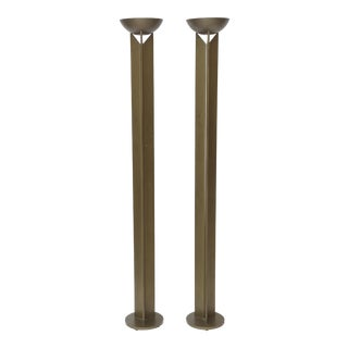 Pair of French Modern Bronzed Metal Torcheres