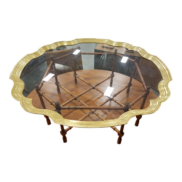 Baker Furniture Pie Crust Coffee Table - Image 1 of 6
