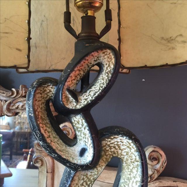 Mid Century Lamp with Fiberglass Shade - Image 8 of 9