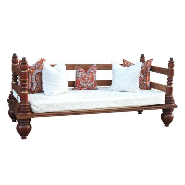 Anglo indian kerela teak day bed chairish for Diwan models india