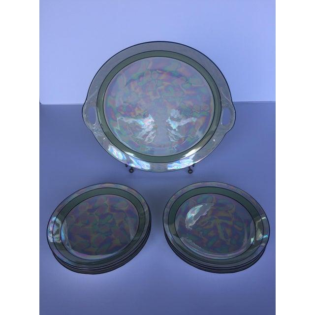 Art Deco Lusterware Dessert Set by Otto Grunert - Set of 7 - Image 5 of 5