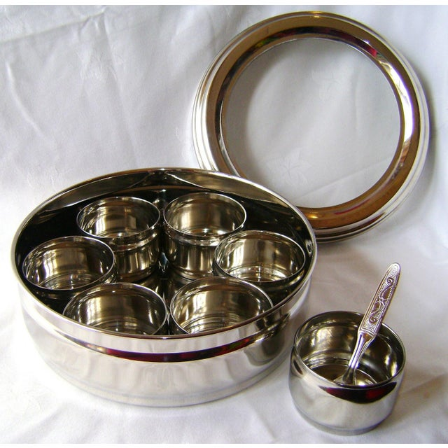 9-Spice Stainless Steel Masala Dabba Spice Box - Image 2 of 7