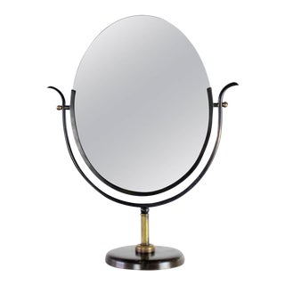 Charles Hollis Jones Vanity Mirror in Bronze & Brass, 1970s