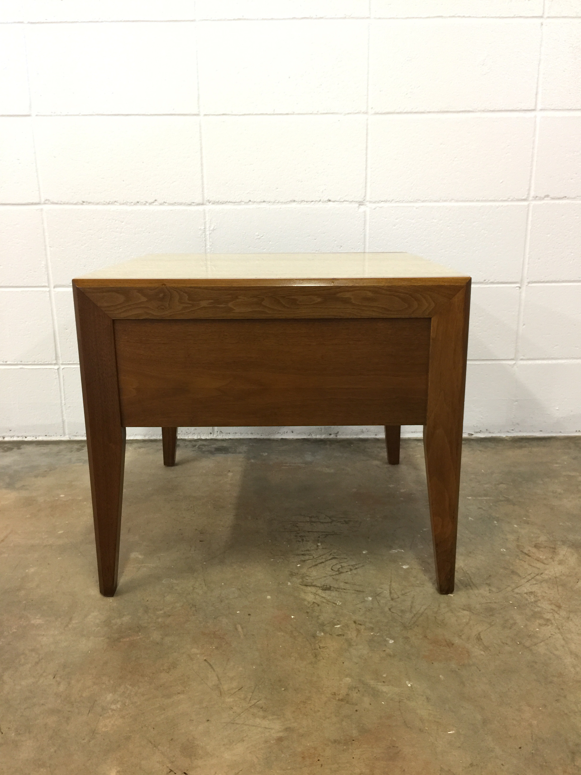Superb Mid Century Modern Travertine Top End Table   Image 7 Of 9