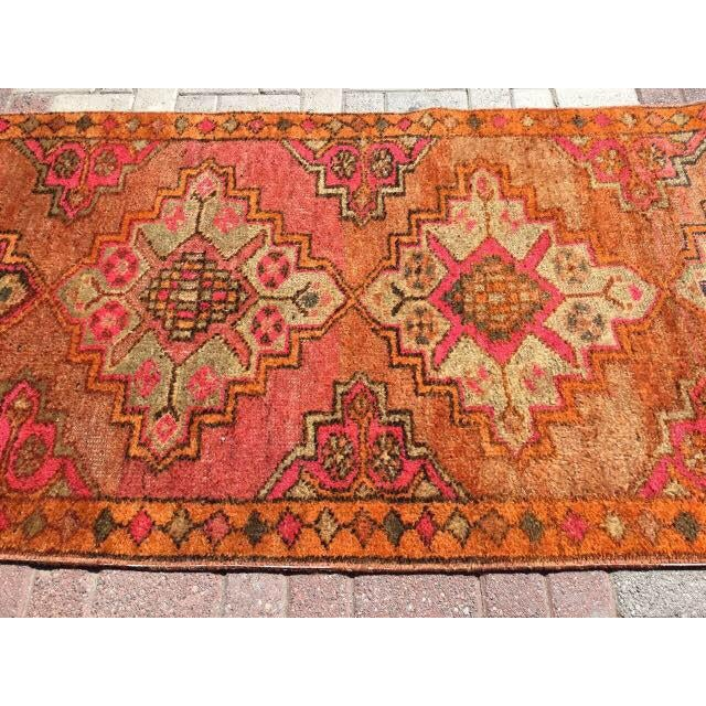 Vintage Turkish Runner Rug - 3′6″ × 10′10″ - Image 4 of 7