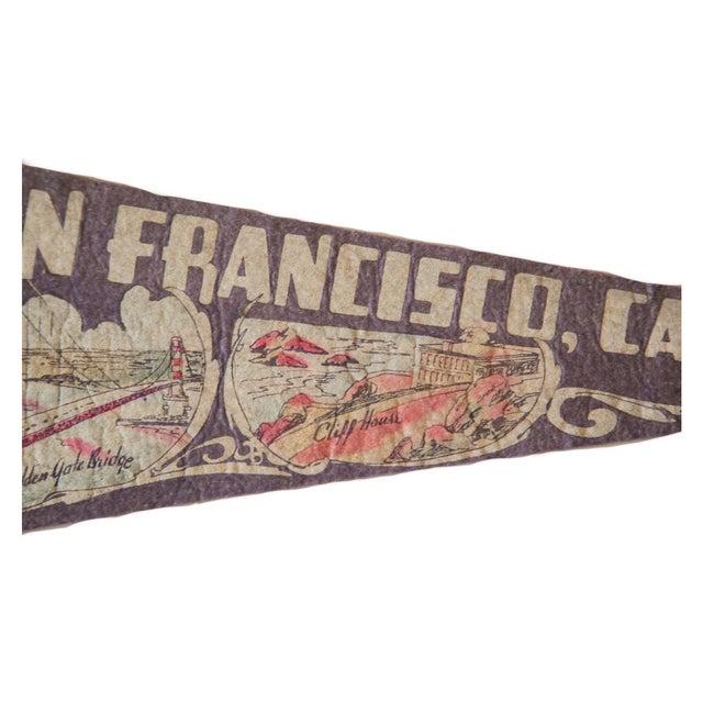 Vintage 1940s San Francisco Felt Flag - Image 3 of 4