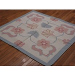 Image of Square Hand Woven Dhurry Rug - 4' x 4'