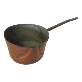 Antique French Copper Sauce Pan