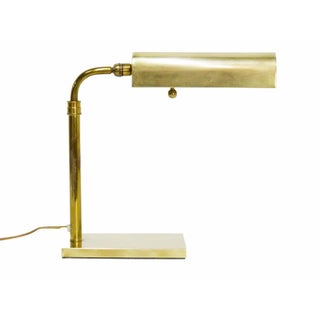 1970s Vintage Boyd Lighting Brass Articulating Desk Lamp