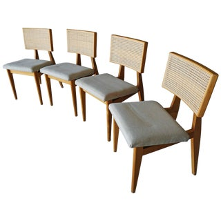 George Nelson Cane-Back Chairs - Set of 4