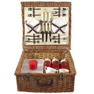 Vintage English Picnic Basket - Set of 36