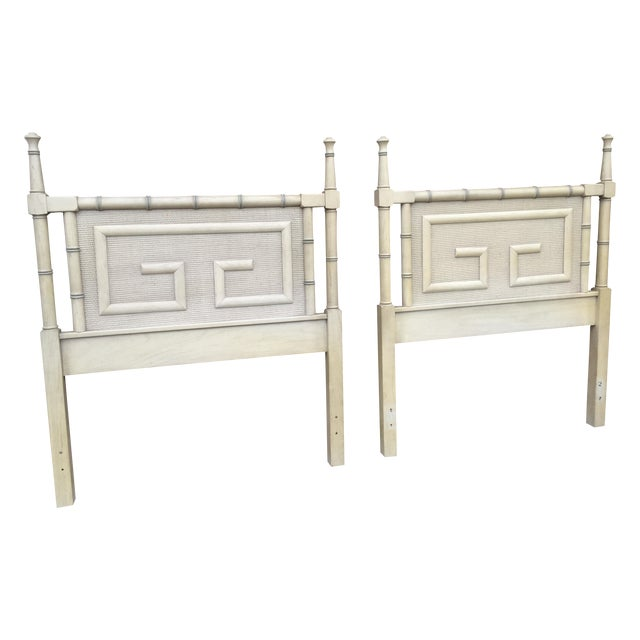 Dixie Shangri La Vintage Twin Headboards - A Pair - Image 1 of 4