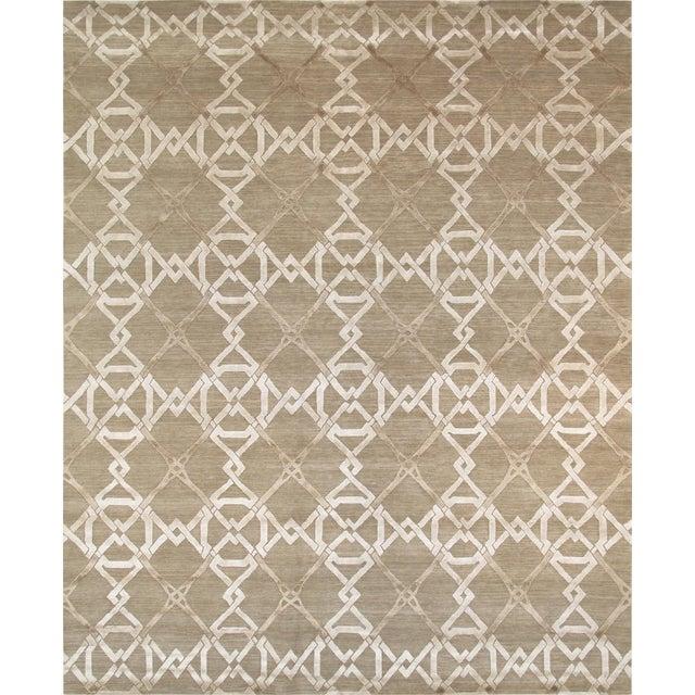 Pasargad Modern Silk & Wool Rug - 8′1″ × 10′1″ - Image 1 of 4