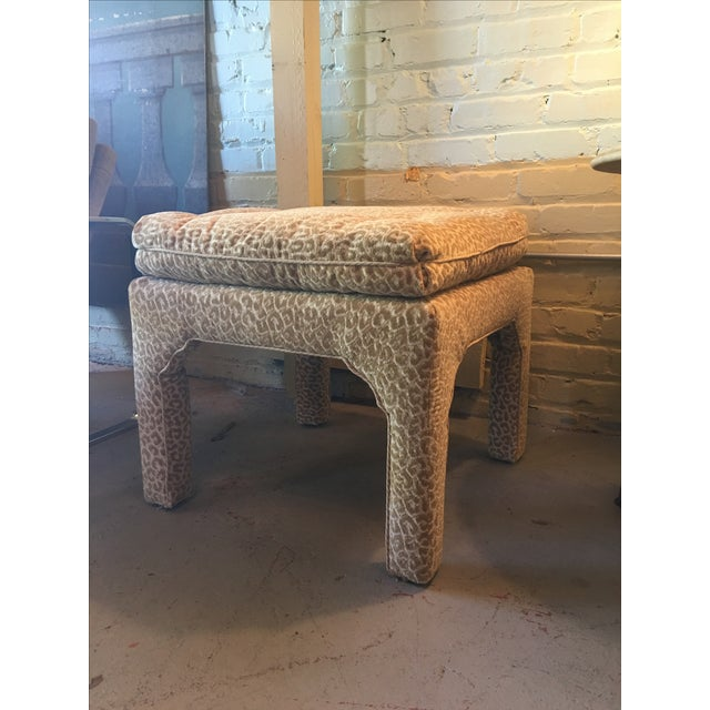 Scalamandre Leopard Print Bench/Ottoman - Image 3 of 5