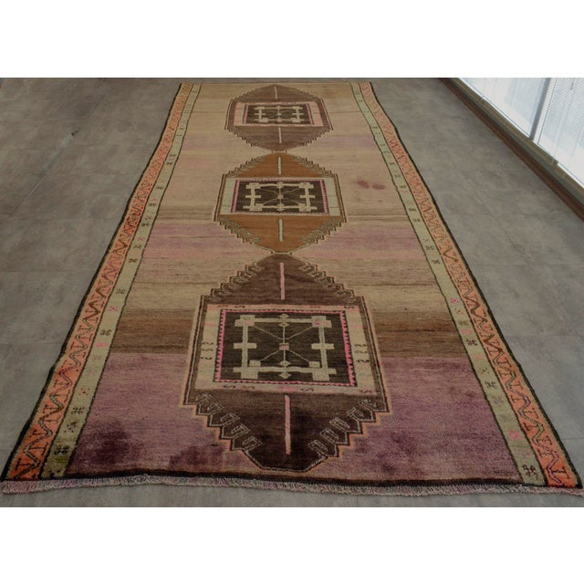 Hand Knotted Turkish Kars Rug - 5′9″ × 13′11″ - Image 5 of 11