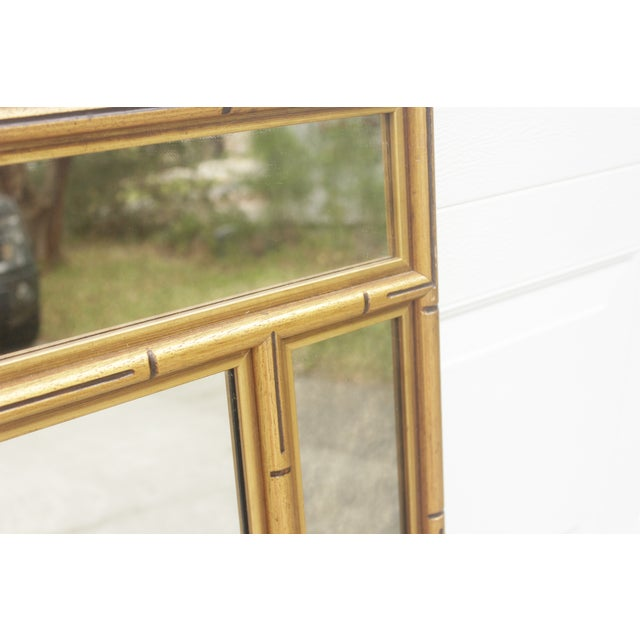 Image of Gold Faux Bamboo Mirror