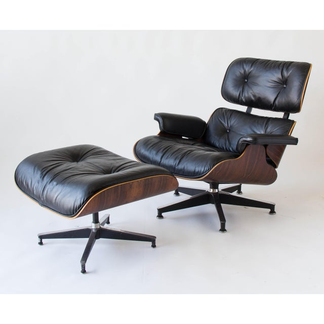 Vintage Eames Lounge Chair With Ottoman - Image 2 of 9