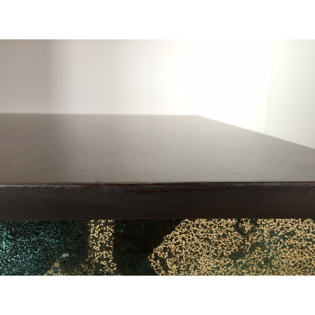 Image of Mirror Side Table w/ Gray Washed Wood Top