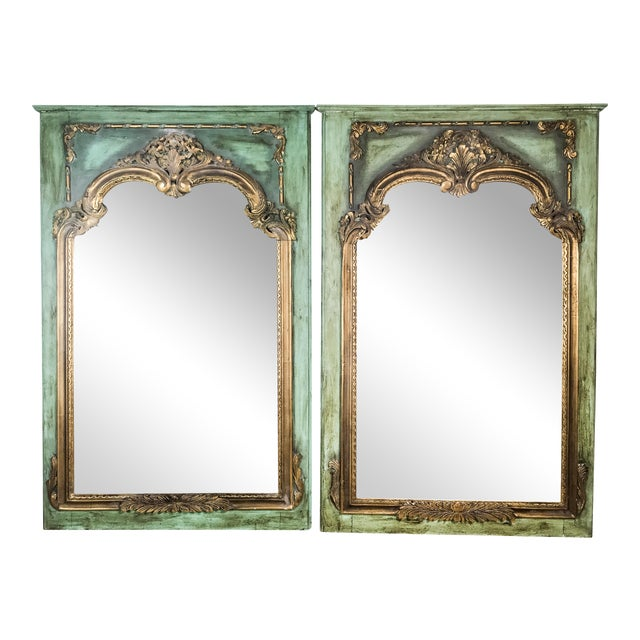 Gilded Antique French Mirrors - A Pair - Image 1 of 4