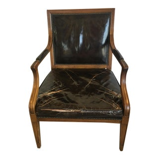 Vintage Baker Furniture Leather Chair