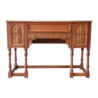 Antique Oak Piano Desk by Hekman of Grand Rapids
