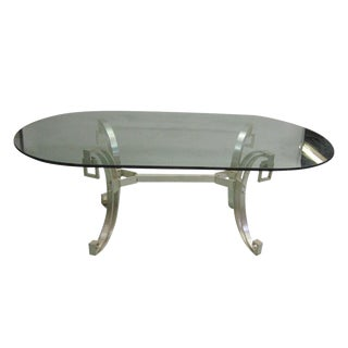 Rare French Modern Neoclassical Dining Table by Maison Ramsay