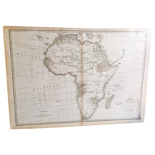 Vintage 1791 d'Anville Map of Africa