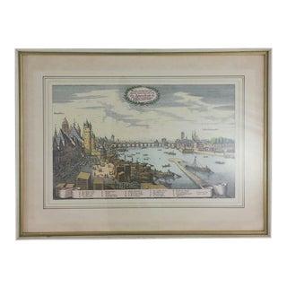Framed Harbor Map Print of Frankfurt
