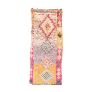 "Vintage Boucherouite Moroccan Rug - 2'9"" x 5'11"""